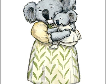 Mama Koala Cuddle, individual Mothers Day card.