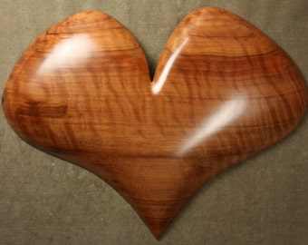 Romantic wooden Heart wood carving Personalized Anniversary gift