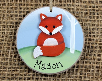 Baby Fox Ornament~Keepsake~First Christmas~ Personalized