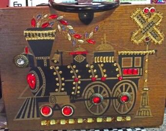 Enid Collins Style Train Engine Box Purse