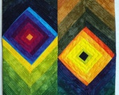 Art quilt, abstract quilt, contemporary quilt, wall decor- Color My World
