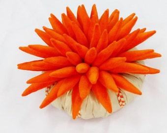 Stranger Things-juicy orange origami luxury plush pine shaped flower pillow-home decor-fun pillow -decorative-handmade-retro-sofa pillow