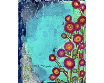 Printable - Art Journal Page - Mixed Media Background - Instant Download - Digital Download