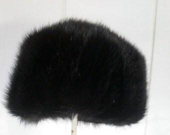 Mink Pill Box Hat 1960s