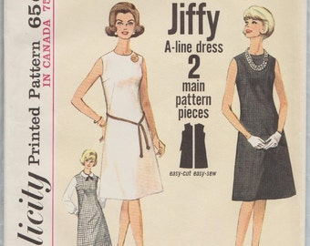 Simplicity 5508 / Vintage 60s Sewing Pattern / Dress Or Jumper / Size 20 Bust 40