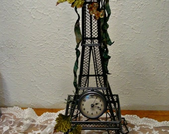 Eiffel Tower Clock Eiffel Tower Statue French Farmhouse French Inspired Home Decor