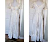 Vintage corsett prairie - festival -bohemian - hippie - gypsy - maxi dress