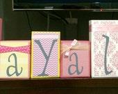 Custom Order for Amira - LAYALY's pink/yellow BLOCKS