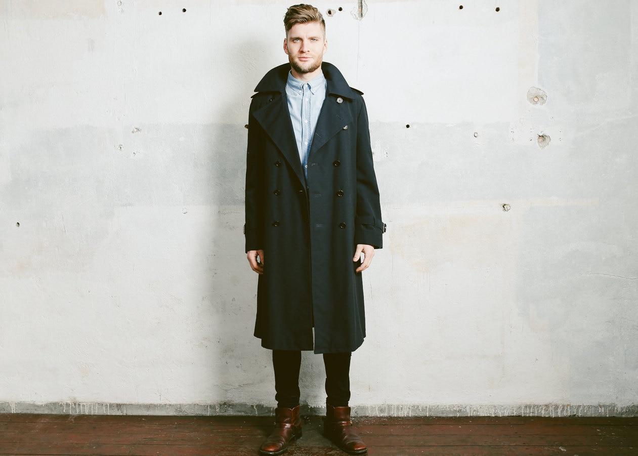 Mens Rain Trench Coat - fashionworksflooring.us