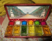 1950s  The Famous Six Perfumes by Louis D'Or of France Boxed Gift Set