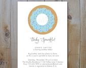 Baby Sprinkle Shower Invitation / Donut Invitation / Baby Boy Sprinkle Shower / PRINTABLE INVITATION /  #10613