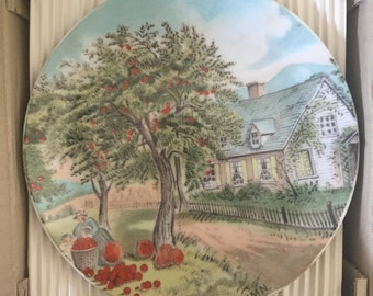 """Currier & Ives Vintage Plates """"Seasons"""" - Excellent Condition"""