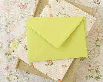 Pistachio Green vintage series blank C6 envelopes