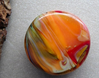Destash Small Lampwork glass bead focal by Pamela Wolfersberger.