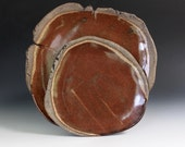 """Stoneware Dinner Plates in """"Mahogany"""", large and small"""