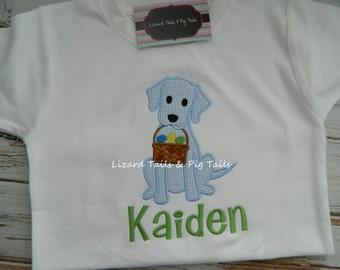Boys Easter Shirt Boys Labrador Easter Basket Shirt Puppy Easter Basket