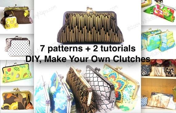 Clutch Tutorials PDF - NOW with 7 patterns - 10 inch, 8 inch, 6 inch, 4.5 inch, 3 inch
