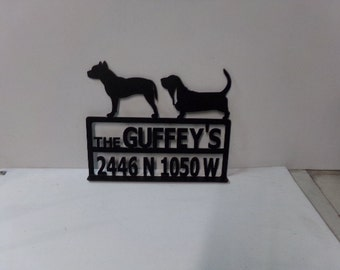 Custom Dog Mailbox Topper Metal Silhouette