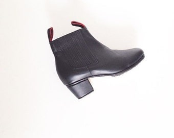 Wayne leather ankle boots (Handmade to Order)