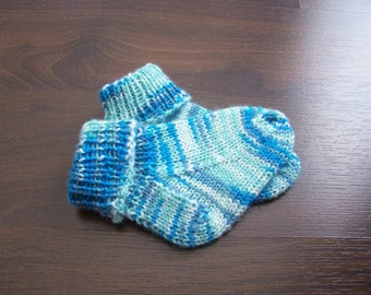 Handknitted Wool Socks Hand Knit Baby Wool Socks Hand Knitted socks for Baby Knit baby wool socks First Baby socks Made to Order