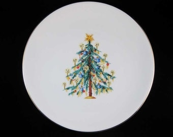 Hutschenreuther 1814 Hohenberg German Candlelit Christmas Tree Plate