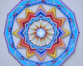 Born of Fire, a custom made 36 inch Ojo de Dios