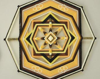 Wild Honey Pie, an 18 inch, 8-sided Ojo de Dios, by custom order