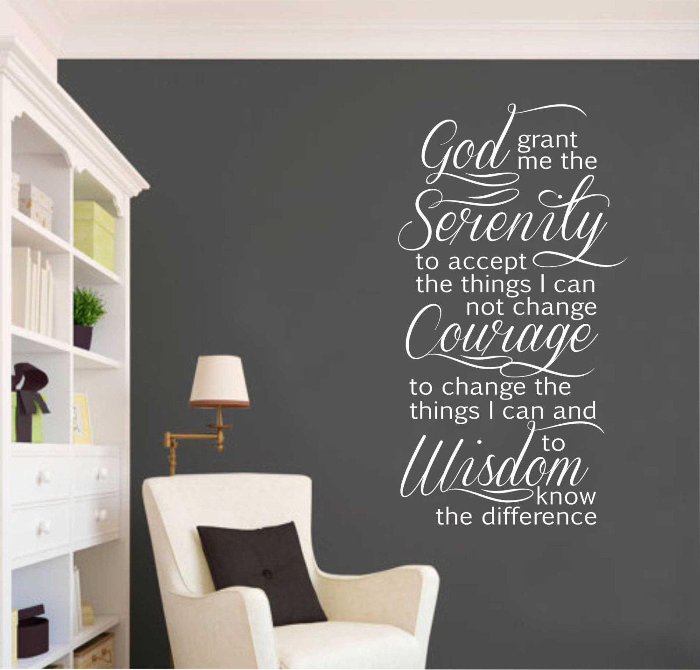 Serenity Prayer Vinyl Wall Lettering Vinyl Wall Decals - Custom vinyl wall decals christian