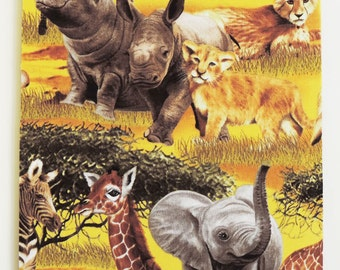 Hippos, elephants, lions and wild cats Mousepad