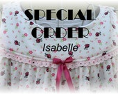 SPECIAL ORDER--Isabelle // Girls' NIGHTGOWN-Size 10 // 100% Cotton-Knit // Pink Lady Bugs