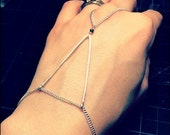 Silver Triangle Hand Bracelet - 925 Sterling Silver