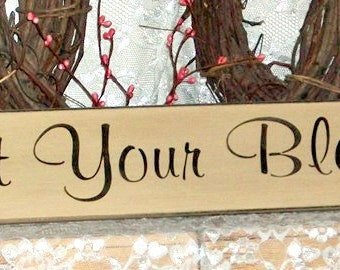Count Your Blessings - Primitive Country Painted Wall Sign, Family sign, Country decor, Inspirational Sign, Blessings Sign, Primitive Decor