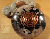 Lepidolite and Tiffany Stone Orgone Pendant