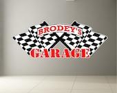 Personalized Garage Decal Removable Garage Sticker Custom Wall Art