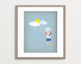 Ice Cream - Customizable 8x10 Archival Art Print