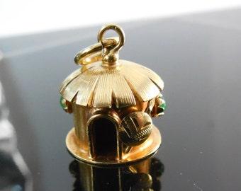 14K Gold Jungle Hut Pendant or Charm - 5.3 Grams Not Scrap