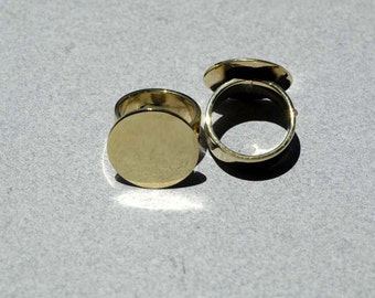 Brass Ring with Circle 20mm Glue Pad Finding for Gluing