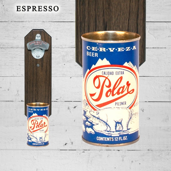 Venezuela Bottle Opener with Wall Mounted Polar Pilsner Beer Can Capcatcher - Groomsmen Gift