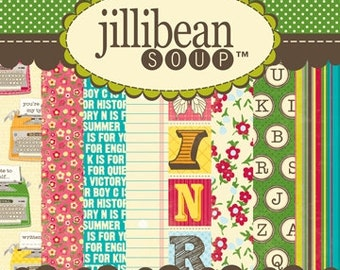 Jillibean Soup 6x6 Paper Pad - Sweet & Sour Soup - Stationery, Typewriter, Travelers Notebook, DIY, Notebook Paper