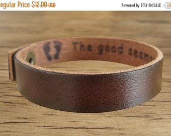 On Sale 10% off Custom Engraved Leather Bracelets for Women and Men