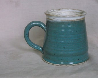 Cream and Turquoise Mug