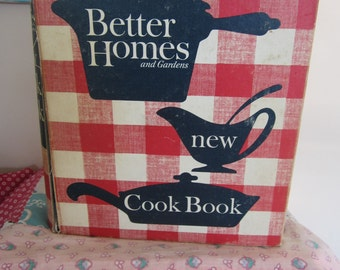 Vintage Better Homes & Gardens New Cook Book 5 Ring Binder Early 1950s