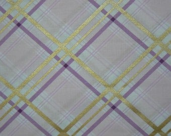 Bow Tie Plaid Cotton Fabric in Opal by Michael Miller - 1 Yard
