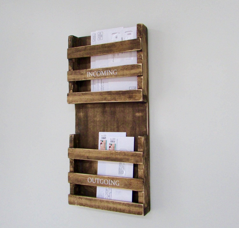 mailbox mail mail organizer rustic mailbox mail holder. Black Bedroom Furniture Sets. Home Design Ideas