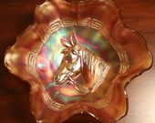 Dugan, Pony, Carnival 8.5 inch Ruffled Edge Bowl