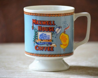 Coffee Cup/Maxwell House Cups/Espresso Cup/Advertising Coffee Cup/1973
