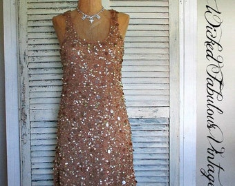 ELeGaNT CaMeL SeQuiN DReSS!  SiZe XS