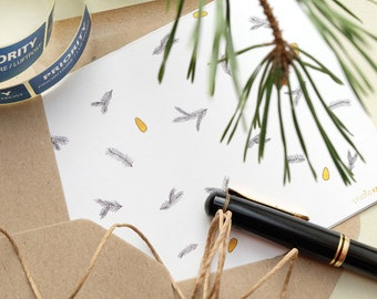 Season's Greeting Card »fir branch with pine nuts« | Botanical Cards | Greeting Card | STUDIO KARAMELO