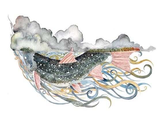Superior -  PRINT of original watercolor