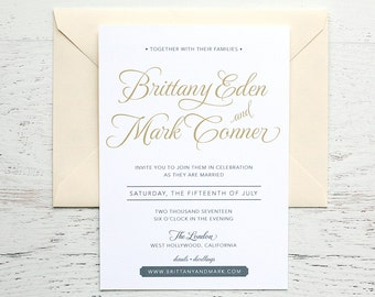 Brittany Custom Wedding Invitation